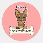 Amo mi Pinscher miniatura Etiqueta