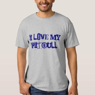 ¡Amo mi PitBull! Camiseta