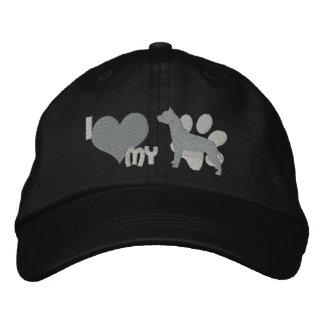 Amo mi pitbull gorra de béisbol bordada