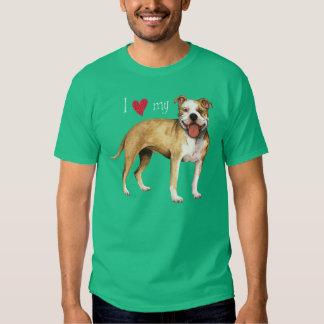 Amo mi pitbull Terrier americano Camisas