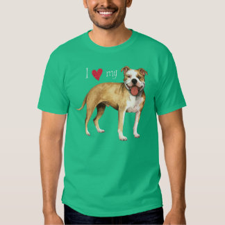 Amo mi pitbull Terrier Camisas