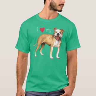 Amo mi pitbull Terrier Camiseta