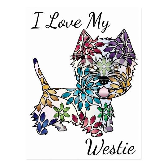 Amo mi postal de Westie