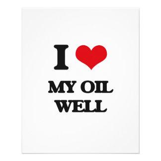 Amo mi pozo de petróleo tarjetas publicitarias