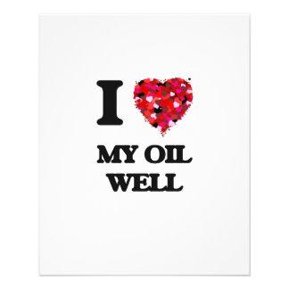 Amo mi pozo de petróleo folleto 11,4 x 14,2 cm