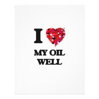 Amo mi pozo de petróleo folleto 21,6 x 28 cm
