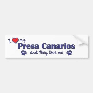 Amo mi Presa Canarios (los perros múltiples) Pegatina Para Coche
