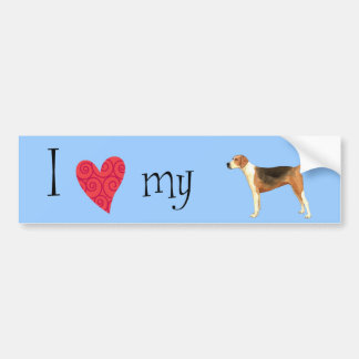 Amo mi raposero americano pegatina de parachoque