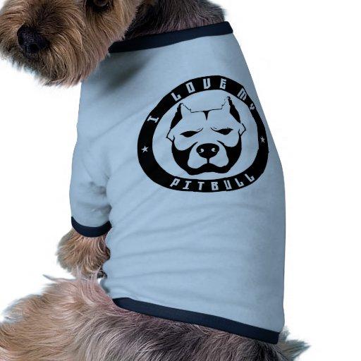AMO MI raza del perro casero del PITBULL de PITBUL Ropa De Mascota