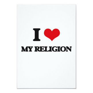 Amo mi religión invitación 8,9 x 12,7 cm