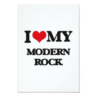 Amo mi ROCK MODERNO Invitación 8,9 X 12,7 Cm