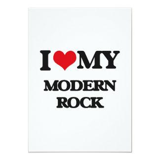 Amo mi ROCK MODERNO Invitación 12,7 X 17,8 Cm