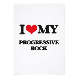 Amo mi ROCK PROGRESIVO Invitación 12,7 X 17,8 Cm