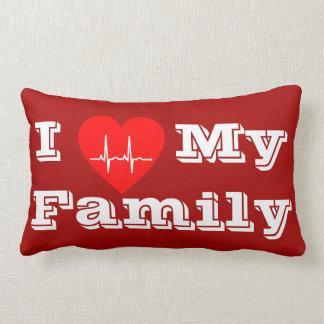 Amo mi rojo de encargo de la almohada de la