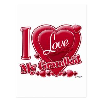 Amo mi rojo de los nietos - corazón postal