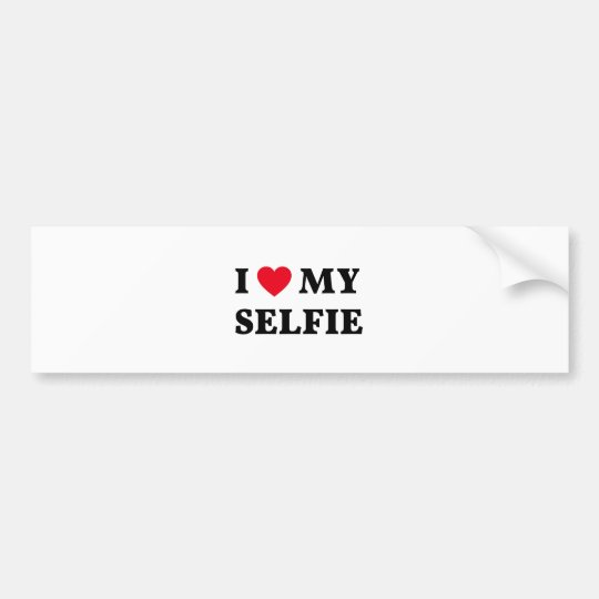 Amo mi selfie, arte de la palabra, diseño del pegatina para coche