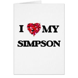 Amo MI Simpson Tarjeta De Felicitación