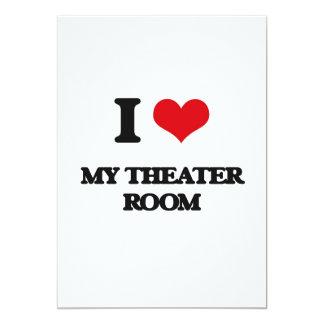 Amo mi sitio del teatro invitación 12,7 x 17,8 cm
