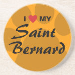 Amo mi St Bernard Pawprint Posavasos Para Bebidas