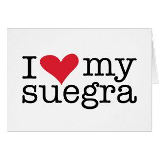 Amo mi tarjeta de felicitación de Suegra (suegra)
