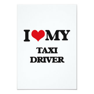 Amo mi taxista invitación 8,9 x 12,7 cm