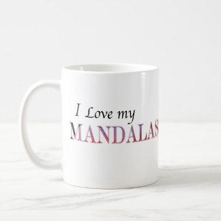 Amo mi taza de café de las mandalas