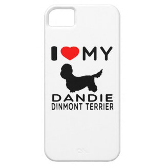 Amo mi terrier de Dandie Dinmont Funda Para iPhone SE/5/5s