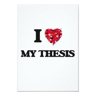 Amo mi tesis invitación 8,9 x 12,7 cm