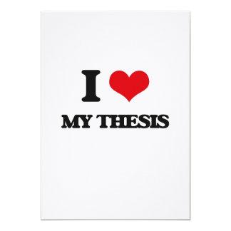 Amo mi tesis invitación 12,7 x 17,8 cm