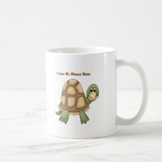 Amo mi tortuga de la caravana taza
