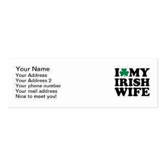 Amo mi trébol irlandés de la esposa tarjetas de visita