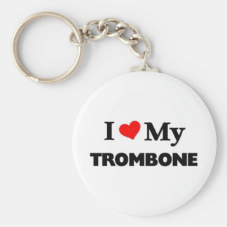 Amo mi Trombone Llavero Redondo Tipo Chapa
