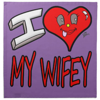 Amo mi Wifey Servilleta De Tela