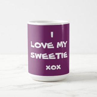 AMO MI xox del SWEETIE - taza de café - el creador