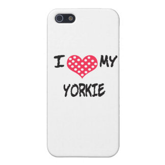Amo mi Yorkie iPhone 5 Carcasa