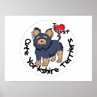 Amo mi Yorkshire Terrier divertido y lindo feliz Póster