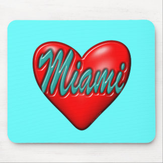 Amo Miami Alfombrilla De Ratón