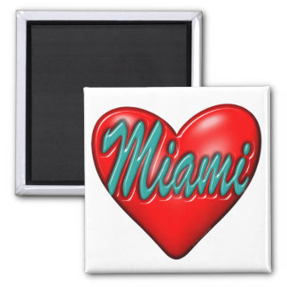 Amo Miami Imán Cuadrado