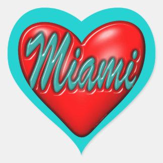 Amo Miami Pegatina En Forma De Corazón