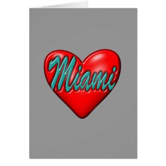 Amo Miami Tarjeta De Felicitación