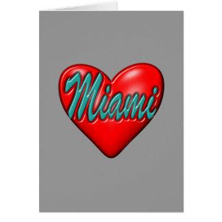Amo Miami Tarjeta Pequeña