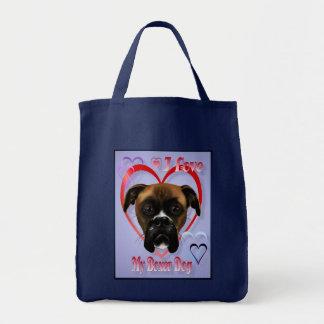 Amo mis bolsos del perro del boxeador bolsas