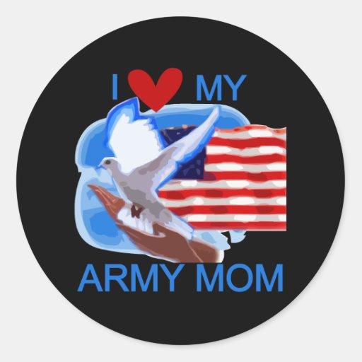 Amo mis camisetas y regalos de la mamá del etiqueta redonda