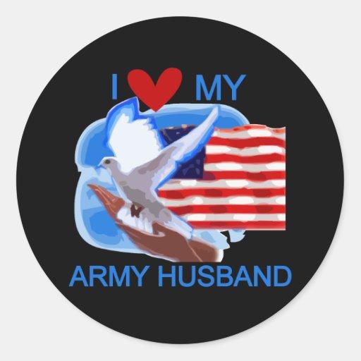 Amo mis camisetas y regalos del marido del etiquetas redondas