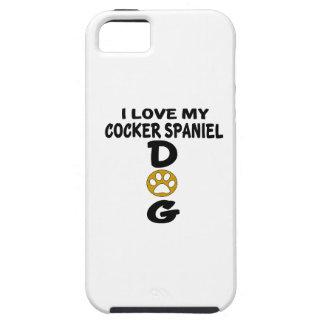 Amo mis diseños del perro de cocker spaniel funda para iPhone SE/5/5s