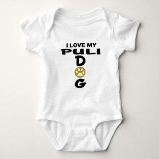 Amo mis diseños del perro de Puli Body Para Bebé