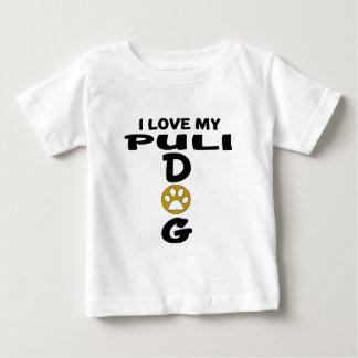Amo mis diseños del perro de Puli Camiseta De Bebé