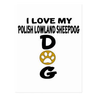Amo mis diseños polacos del perro del perro pastor postal