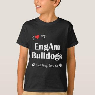 Amo mis dogos de EngAm (los perros múltiples) Camisas