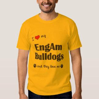 Amo mis dogos de EngAm (los perros múltiples) Camisetas